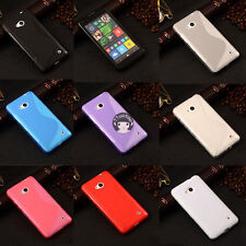 For Nokia Lumia 550 S-Line Wave TPU Soft Silicone Gel Grip Back Case Cover Skin