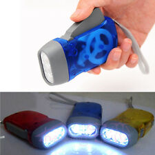 Hand Pressing Crank Flashlight 3 LED Outdoor Emergency Camping Light Lamp