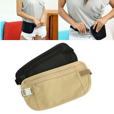 Fashion Travel Pouch Hidden Compact Security Money Passport ID Waist Belt Bag