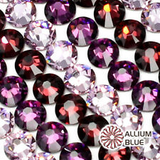SWAROVSKI 2028/2058 Crystal Round Flatback Rhinestone nail art PURPLE Colors Mix