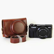 Coffee Leather Camera Bag Cover Case For Canon powershot G7XII G7X II