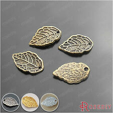 50PCS 16*10MM Zinc Alloy Leaves Tree Leaf Charms Jewelry Accessories 16947