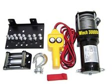 3000LB ELECTERIC ATV WINCH 12V RECOVERY WITH MOUNTING PLATE NEW