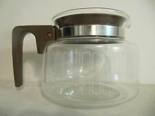 Vintage Drip Coffee Maker 10 Cup Replacement Decanter Carafe Brown Metal Band