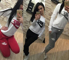 Women Casual Sportswear Athletic Apparel Suit Tracksuit Jacket Pants Sweat Tops