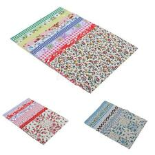 10x Floral DIY Cotton Woven Quilting Fabric Scraps Stickers Charm Crafts
