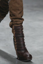 $2735 RICK OWENS RUNWAY THIGH HIGH SEXY TALL WEDGE BOOTS EU 37.5