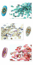 Beauty 10pcs Nail Art Acrylic Colorful Shell Pattern DIY Decoration Jewelry