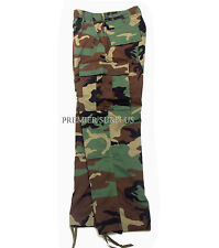 Genuine US Army Woodland M65 BDU Trousers Pants, Size Medium Long, NEW