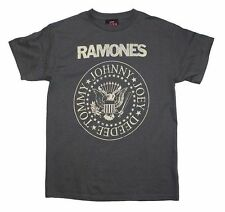 Ramones Distressed Seal Crest T-Shirt SM, MD, LG, XL, XXL New