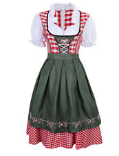 Dirndl Dress German Ethnic Bavarian Oktoberfest Vintage Costume -3 Pcs Dress Hot