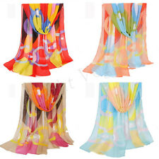 New Women Colorful Girls Women Long Soft Wrap Lady Shawl Silk Chiffon Scarf Hot