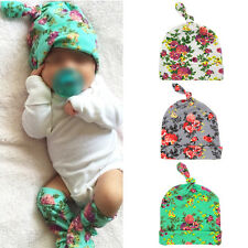 100% Cotton Swaddle Infant Boy Girl Newborn Baby Beanie Hat Knotted Warm Cap