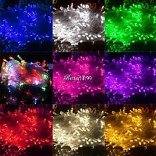 10M 100 LED Chaser String Fairy Lights Indoor Outdoor Xmas Wedding Party Garden