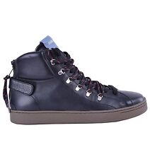 DOLCE & GABBANA High-Top Zip-Up Sneakers Black Made in Italy Sneaker Shoes 04642