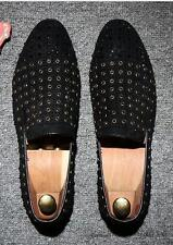 New Men' Riveted Rhinestone Wing tip Slip on Loafers Fashion Leisure Dress shoes