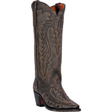 Dan Post Womens Vintage Tan Heather Sanded Leather Cowboy Boots