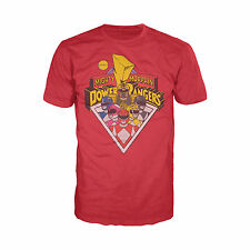 Power Rangers Logo Group Official Mens Ladies Red T-Shirt