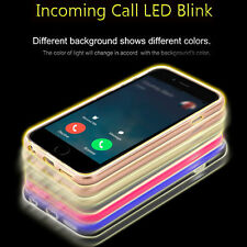 Night LED Light Flash Remind Incoming Call Cover Case For iPhone 5s SE 6 6s Plus
