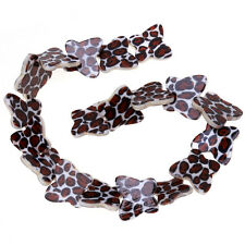 5strings Handmade Leopard Pattern Butterfly Shell Loose Spacer Bead Lots 41cm D