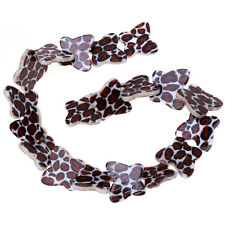 1string Hot Sale Leopard Pattern Butterfly Shell Loose Spacer Bead Charms 41cm D