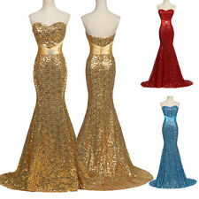 Sequins Mermaid Formal Evening Dress Long Party Prom Bridesmaid Banquet BALLGown
