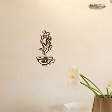 COFFEE CUP - Vinyl Wall Art Decal Sticker Mural Cafe