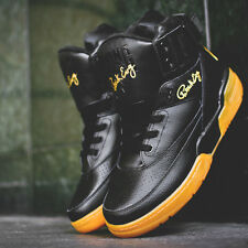 Ewing Athletics 33 Hi Black Gold Gum Brand New Leather Patrick Ewing Sneakers
