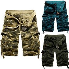 Men's Relaxed Fit Cargo Baggy Shorts Pants Casual Overall Summer 31 32 34 36 38