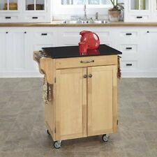 Home Styles Cuisine Kitchen Cart with Granite Top. Brand New