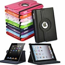 """Leather 360 Rotating Folio Stand Smart Case Cover for Apple iPad 9.7"""" iPad 2/3/4"""