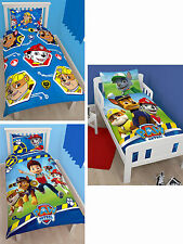 PAW PATROL RESCUE KIDS DUVET QUILT COVER BEDDING SET PANEL ROTARY JUNIOR TODDLER