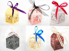 Luxury Laser Cut Wedding Birthday Engagement  Gift Favour Boxes Table Decoration