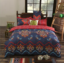 Noble Bohemian Oriental Mandala Bed Quilt Duvet Cover Set Single Queen King Size