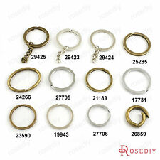 Iron Round and Oval key Ring Key Chains Jewelry Findings Accessories 17731