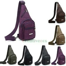 Unisex Nylon Travel Hiking Cross Body Messenger Shoulder Sling Pack Chest Bag
