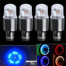 4Pcs Neon LED Lamp Flash Tyre Wheel Valve Cap Light For Car Bike Bicycle Motor G