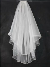 New White/Ivory Bridal Veil Elbow/Fingertip Rope edge Wedding veil With comb