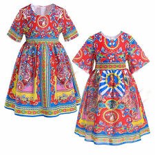 Toddler Girls Dress Carretto Siciliano Kids Clothes Child Princess Party Pageant