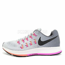 WMNS Nike Air Zoom Pegasus 33 [831356-006] Running Pure Platinum/Black-Grey-Pink