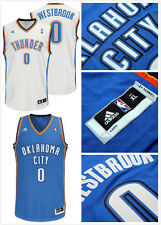 Oklahoma City Thunder #0 Russell Westbrook Swingman Basketball Jersey White/Blue