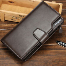 Hot Men Faux Leather ID Card holder Clutch Bifold Coin Purse Wallet Pockets