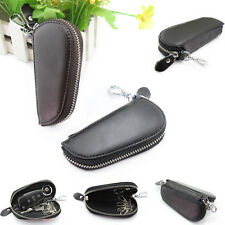 Deluxe Men Leather Car Key Chain Ring Keyholder Holder Case Wallet Purse Pouch