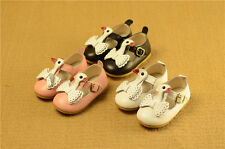 NEW Kids Child Girls Leather Mary Jane Shoes Velcro Princess Dress Ballet Flats