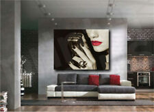 Microphone Woman Red Lips Tango Music Canvas Art Poster Print Home Wall Decor