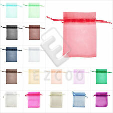 20/40/60/100pcs 7x9cm Organza Pouches Rectangle Jewellery Gift Bags BB0001