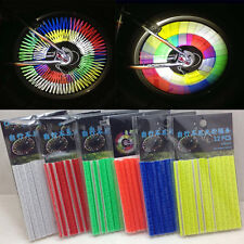 12Pcs/Set Reflector Bicycle Wheel Rim Spoke Bike Mount Warning Light Strip Tube
