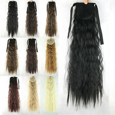 """Hairpieces Women Lady Girls Long Wavy Hair Curly Wigs Ponytail 21"""" Synthetic 54d"""