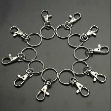 10/20 Swivel Clips Key Ring Charm Clasps Bag Hooks Finding Lobster Trigger Hot
