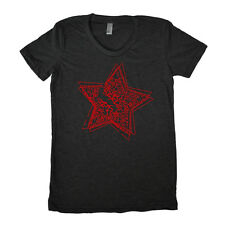 "Star Font Graphic printed on Women's ""Junior Size"" American Apparel T-shirt"